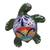 Ceramic wall sculpture, 'Delightful Turtle' - Ceramic Turtle Wall Sculpture in Green from Mexico (image 2a) thumbail