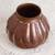 Copper vase, 'Fluid Textures' - Textured Copper Vase Handcrafted in Mexico thumbail