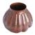Copper vase, 'Fluid Textures' - Textured Copper Vase Handcrafted in Mexico (image 2a) thumbail