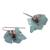Agate dangle earrings, 'Vine' - Leaf Motif Agate Dangle Earrings from Mexico (image 2c) thumbail