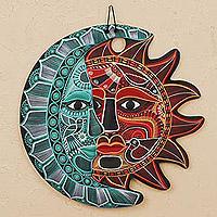 Ceramic wall art, 'Cultural Eclipse'