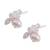 Cultured pearl button earrings, 'Dreamy Bees' - Cultured Pearl Bee Button Earrings from Mexico (image 2c) thumbail