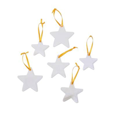 Onyx ornaments, 'Star of the East' (set of 6) - Set of 6 Natural Onyx Star Ornaments Handcrafted in Mexico