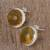 Amber button earrings, 'Round Gold' - Handmade Natural Amber Button Earrings from Mexico (image 2b) thumbail