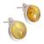 Amber button earrings, 'Round Gold' - Handmade Natural Amber Button Earrings from Mexico (image 2c) thumbail