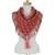 Cotton scarf, 'Subtle Movement in Red' - Brick Red and Pink Handwoven Fringed Scarf with Tassels (image 2a) thumbail
