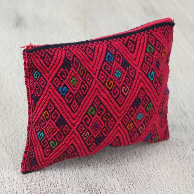 Cotton cosmetic bag, Cherry Geometry
