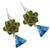 Swarovski crystal dangle earrings, 'Verdant Charm' - Green and Blue Swarovski Crystal Dangle Earrings from Mexico (image 2c) thumbail