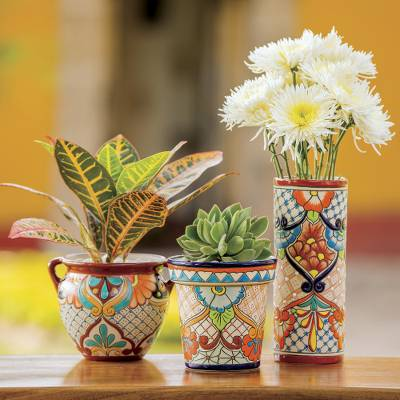 Ceramic flower pot, Sunlit Stroll