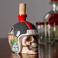 Ceramic tequila decanter,