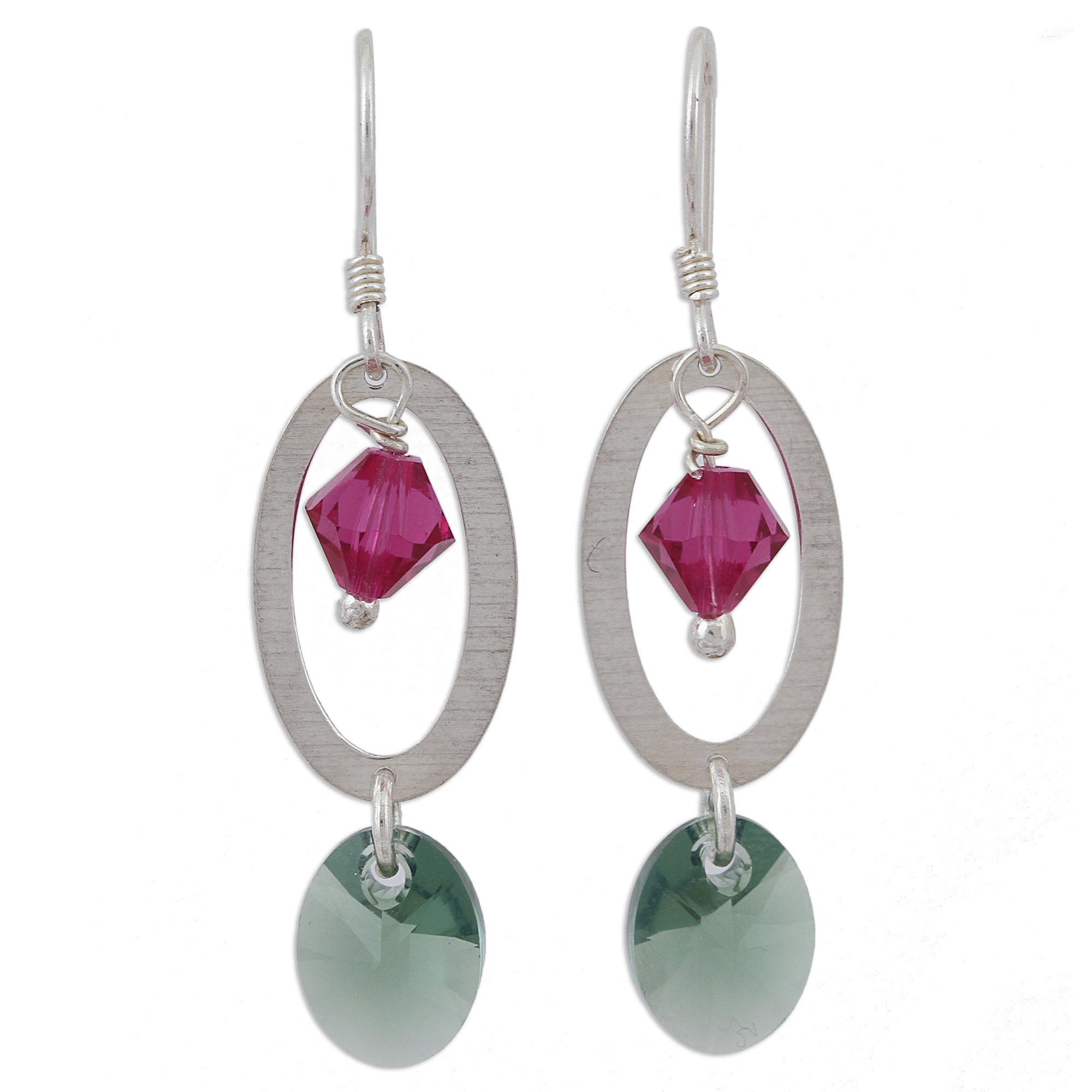 8352b5cb5f3a5 Swarovski Pink Crystal Dangle Earrings - Best All Earring Photos ...