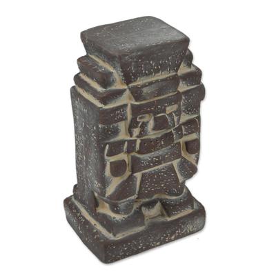 Ceramic figurine, 'Tlaloc' - Ceramic Figurine of an Aztec God from Mexico