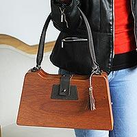 Wood handbag,