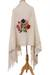 Cotton shawl, 'Festive Season' - Handwoven Floral Cotton Shawl from Mexico (image 2c) thumbail