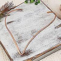 Copper collar necklace,