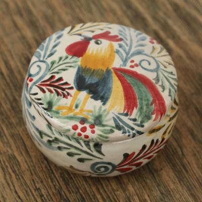 Ceramic decorative jar, Free Rooster