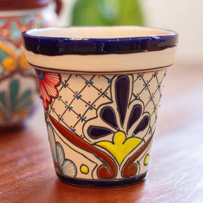Ceramic Flower Pot Talavera Life Hand Painted
