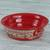 Ceramic serving bowl, 'Red Basin' (8 inch) - Handmade Ceramic Serving Bowl from Mexico (8 in.) thumbail