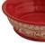 Ceramic serving bowl, 'Red Basin' (8 inch) - Handmade Ceramic Serving Bowl from Mexico (8 in.) (image 2d) thumbail