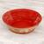 Ceramic serving bowl, 'Red Basin' (12 inch) - Handmade Ceramic Serving Bowl from Mexico (12 in.) (image 2b) thumbail