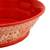 Ceramic serving bowl, 'Red Basin' (12 inch) - Handmade Ceramic Serving Bowl from Mexico (12 in.) (image 2f) thumbail