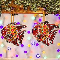 Ceramic ornaments,