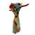 Hand-painted wall sculpture, 'Floral Giraffe' - Hand-Painted Floral Giraffe Wall Sculpture from Mexico (image 2d) thumbail