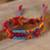 Cotton wristband bracelets, 'Forever Friends' (set of 3) - Bright Cotton Wristband Bracelet from Mexico (Set of 3) (image 2b) thumbail