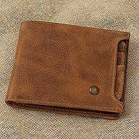 Leather wallet, 'Cinnamon Style' - Handmade Leather Wallet in Cinnamon from Mexico