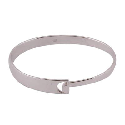 Taxco Sterling Silver Bangle Bracelet from Mexico
