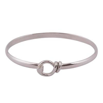 Simple Taxco Sterling Silver Bangle Bracelet from Mexico