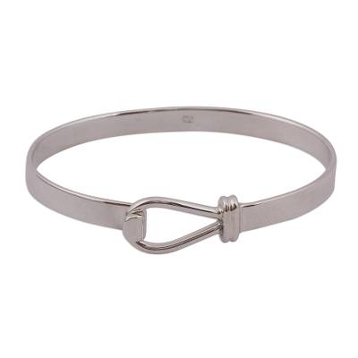High-Polish Sterling Silver Bangle Bracelet from Mexico