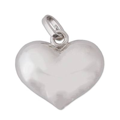 Heart-Shaped Sterling Silver Pendant from Mexico