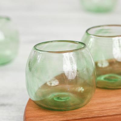 Hand blown stemless glass