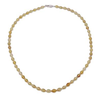 Amber Disc Beaded Necklace from Mexico