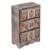 Decoupage wood jewelry chest, 'Frida Fan' - Distressed Wood Frida Kahlo Jewelry Chest from Mexico thumbail
