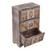 Decoupage wood jewelry chest, 'Frida Fan' - Distressed Wood Frida Kahlo Jewelry Chest from Mexico (image 2e) thumbail