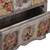Decoupage wood jewelry chest, 'Frida Fan' - Distressed Wood Frida Kahlo Jewelry Chest from Mexico (image 2f) thumbail
