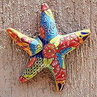 Ceramic wall sculpture, Talavera Starfish