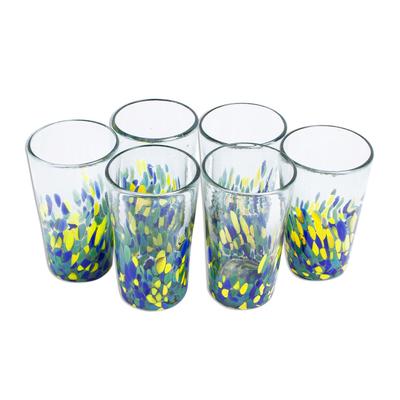 tropical glass tumblers