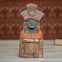 Ceramic sculpture, 'Mighty Tlaloc'