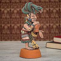 Ceramic sculpture, 'Mayan Goddess of Medicine' - Ceramic Sculpture of Mayan Goddess Ixchel from Mexico