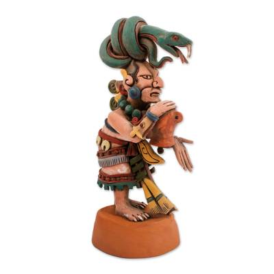 Ceramic sculpture, 'Mayan Goddess of Medicine' - Ceramic Sculpture of Mayan Goddess Ixchel from Mexico