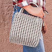 Recycled pop-top handbag, 'Cute Glimmer' - Recycled Aluminum Pop-Top Handbag from Mexico