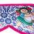 Cotton accented satin sleep mask, 'Talavera Dreams' - Talavera Motif Cotton Accented Satin Sleep Mask from Mexico (image 2c) thumbail