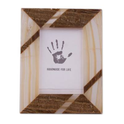 Modern Brown Onyx Photo Frame from Mexico (4x6)