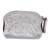 Leather coin purse, 'Beautiful Tradition in Silver' - Floral Pattern Leather Coin Purse in Silver from Mexico (image 2a) thumbail