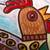 Ceramic wall art, 'Rooster Under the Sun' - Rooster-Themed Ceramic Wall Art from Mexico (image 2b) thumbail