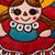 Ceramic wall art, 'Delightful Maria Doll' - Ceramic Wall Art of a Maria Doll in a Red Dress from Mexico (image 2b) thumbail