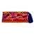 Cotton blend clutch, 'Jubilant Garden' - Crimson Cotton Blend Clutch with Colorful Embroidery (image 2a) thumbail